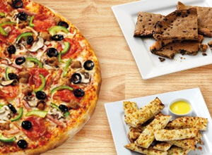 Large pizza, Side and Hot Dessert £16.99