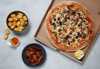 Any large pizza and any two sides for £20.99