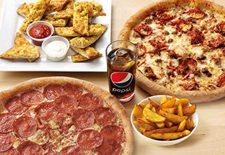 2 XXL Pizzas, 2 Sides & a Large Drink for £31.99