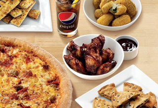 Medium Pizza, any Side & Large Drink for £14.99. Add £3 for a Large Pizza