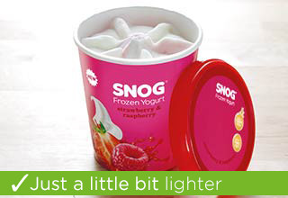 SNOG Frozen Yogurt – Strawberry & Raspberry